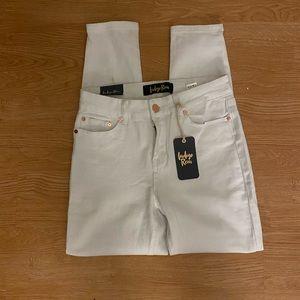 Indigo Rein White Straight Leg Jeans